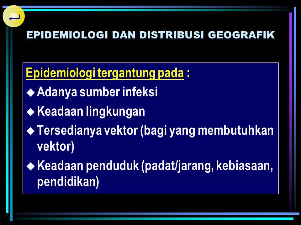 EPIDEMIOLOGI DAN DISTRIBUSI GEOGRAFIK