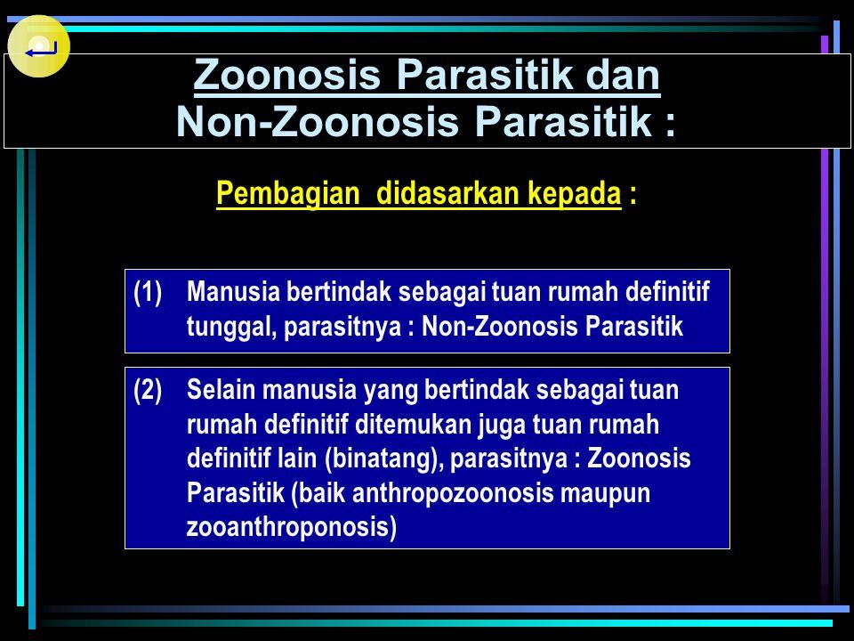 Zoonosis Parasitik dan Non-Zoonosis Parasitik :