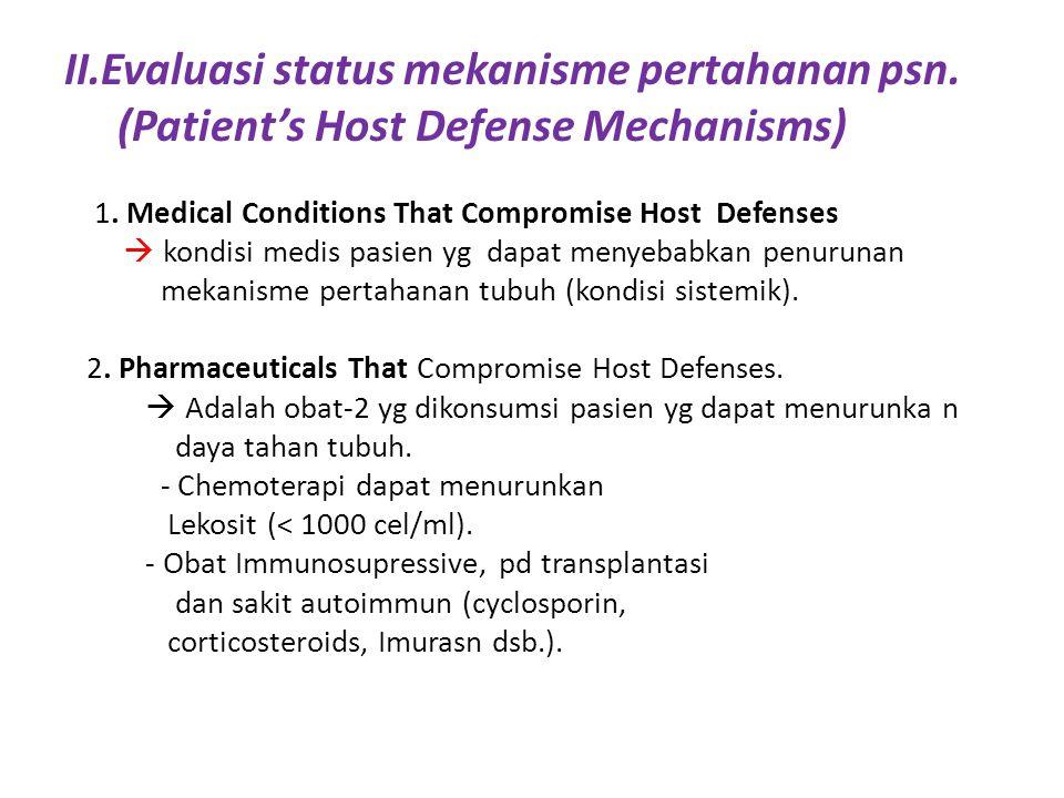 II.Evaluasi status mekanisme pertahanan psn.