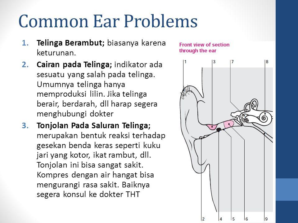 Common Ear Problems Telinga Berambut; biasanya karena keturunan.