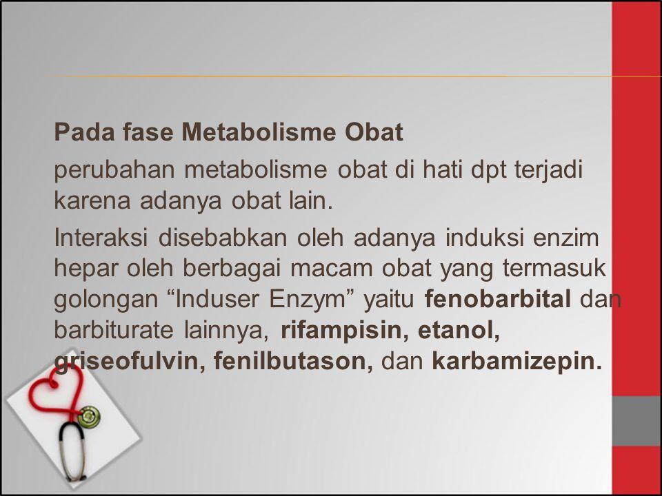 Pada fase Metabolisme Obat