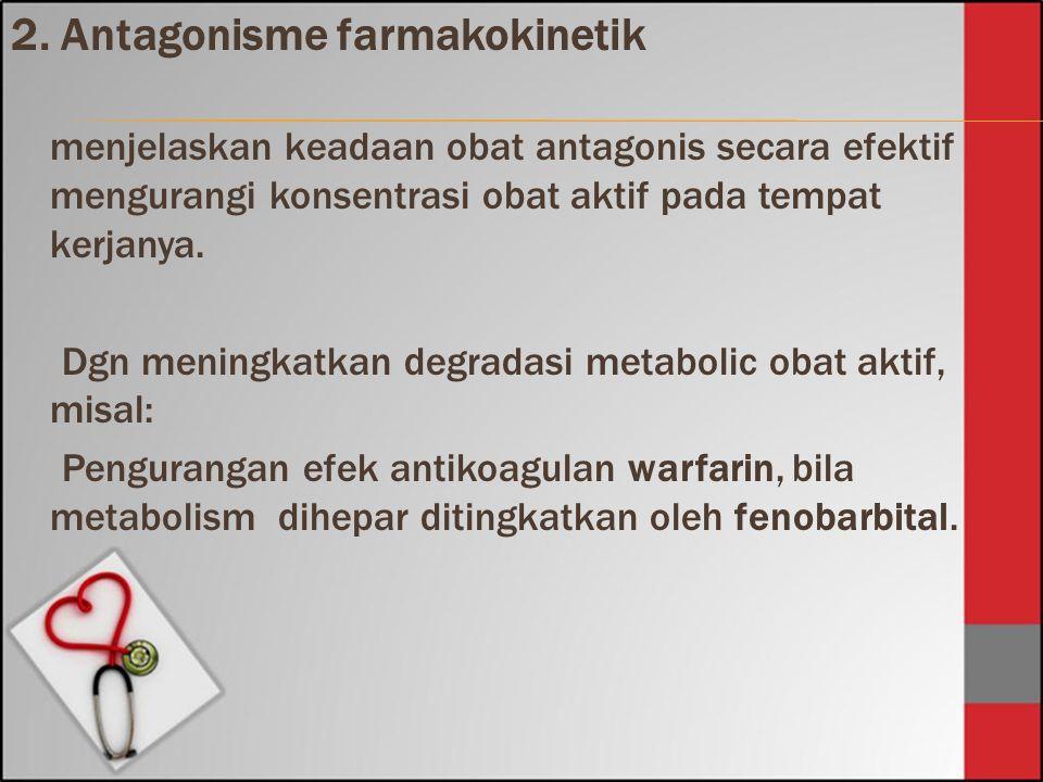 2. Antagonisme farmakokinetik