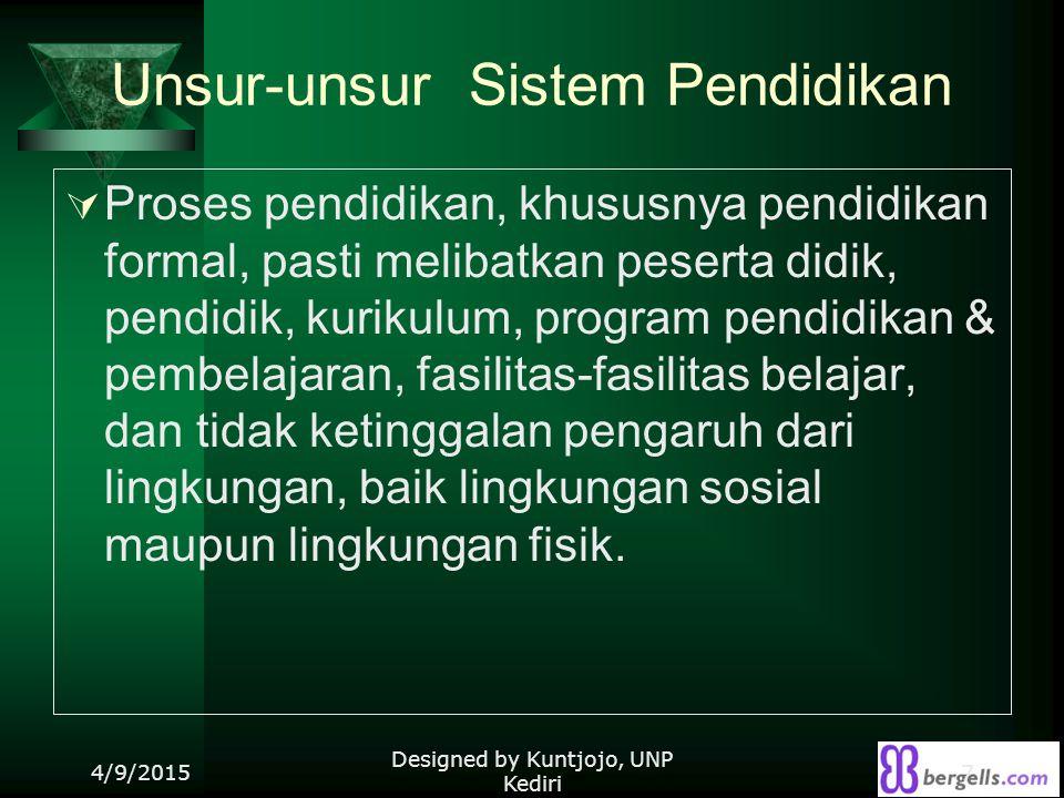 Unsur-unsur Sistem Pendidikan