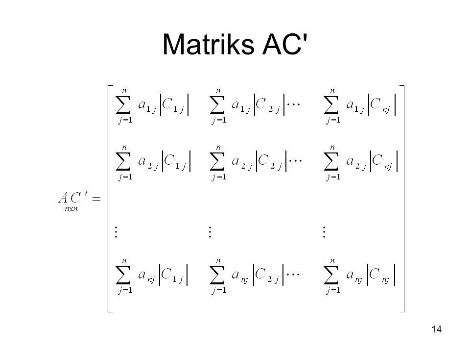 Matriks AC 14