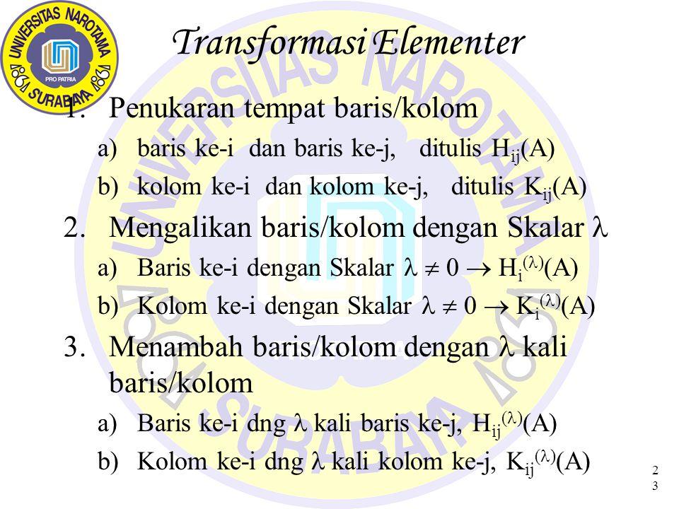 Transformasi Elementer