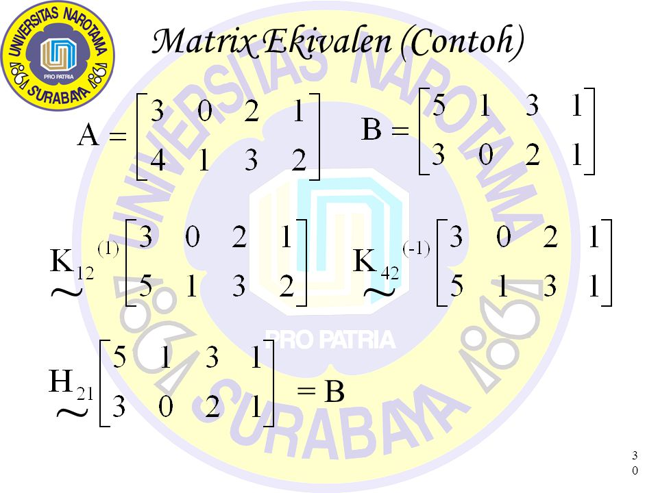 Matrix Ekivalen (Contoh)