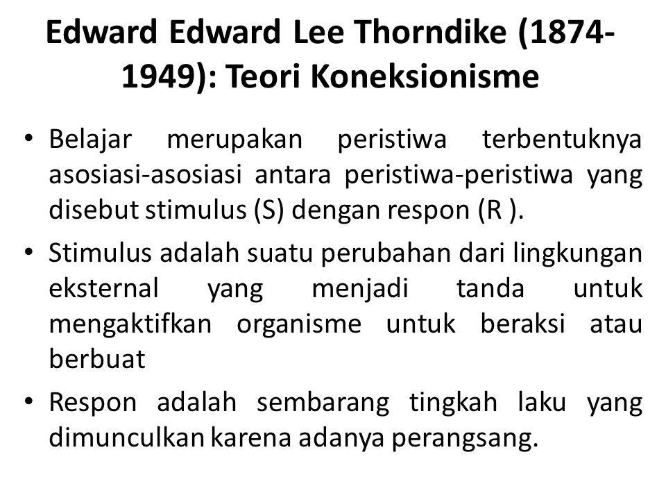 Edward Edward Lee Thorndike (1874-1949): Teori Koneksionisme