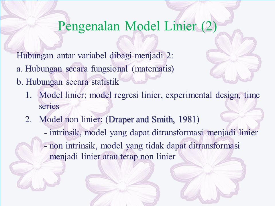 Pengenalan Model Linier (2)