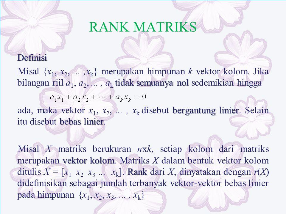 RANK MATRIKS
