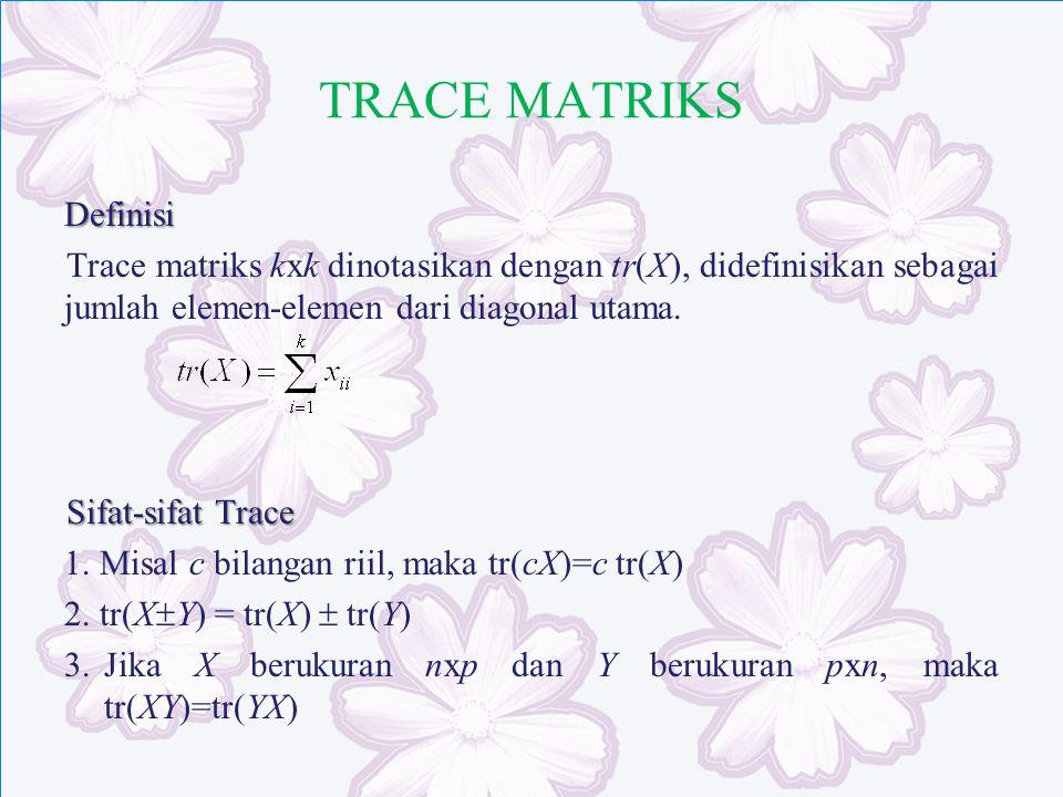 TRACE MATRIKS Definisi