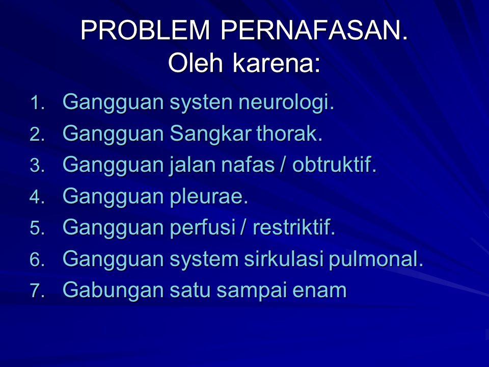 PROBLEM PERNAFASAN. Oleh karena: