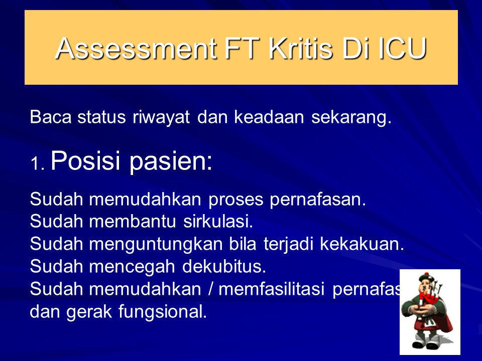 Assessment FT Kritis Di ICU