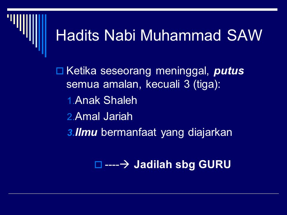 Hadits Nabi Muhammad SAW