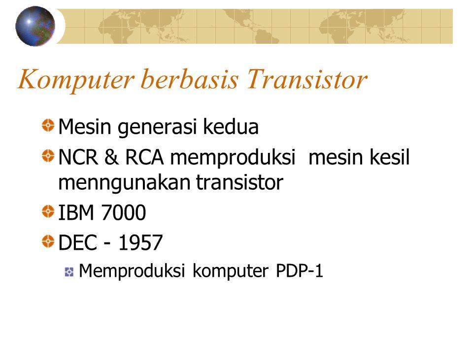 Komputer berbasis Transistor