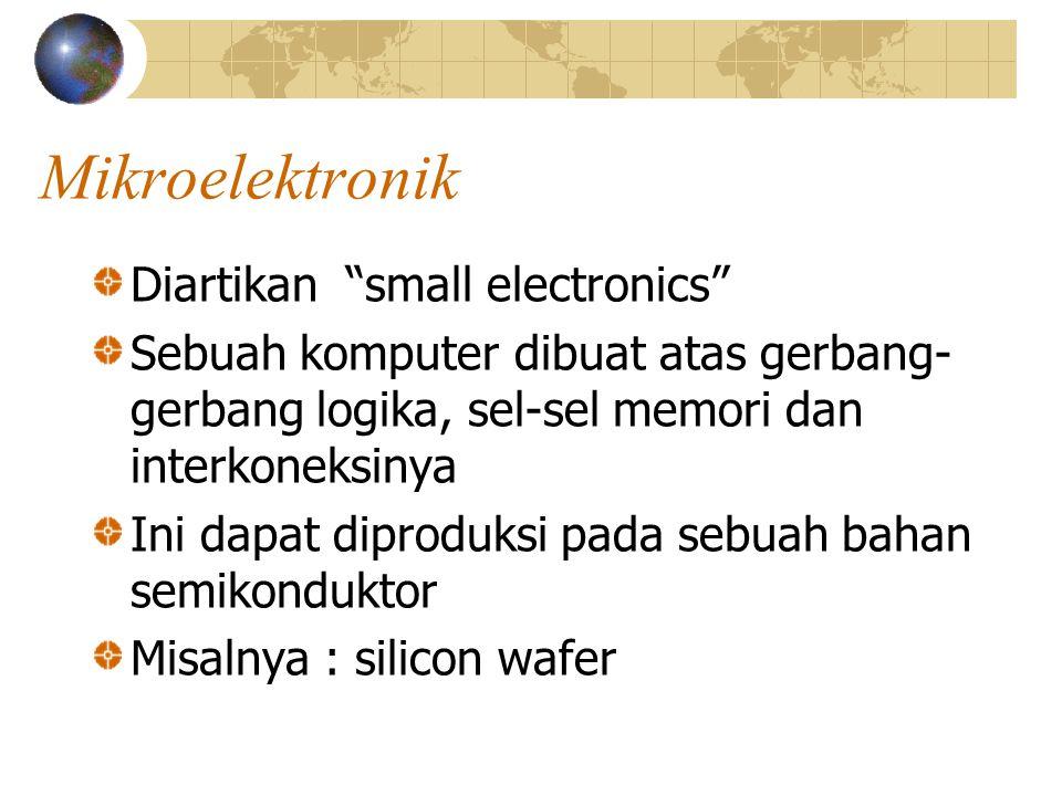 Mikroelektronik Diartikan small electronics