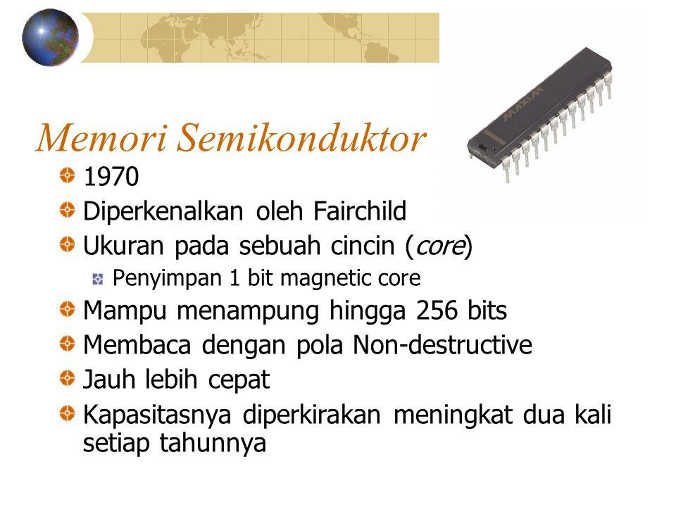 Memori Semikonduktor 1970 Diperkenalkan oleh Fairchild