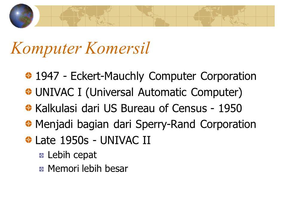 Komputer Komersil 1947 - Eckert-Mauchly Computer Corporation