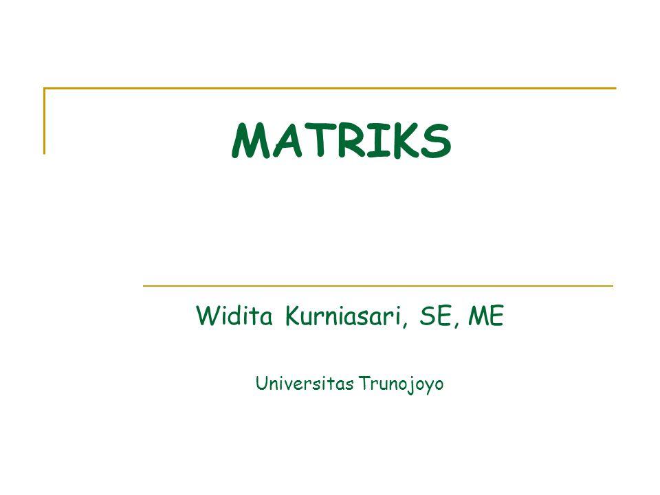 Widita Kurniasari, SE, ME Universitas Trunojoyo