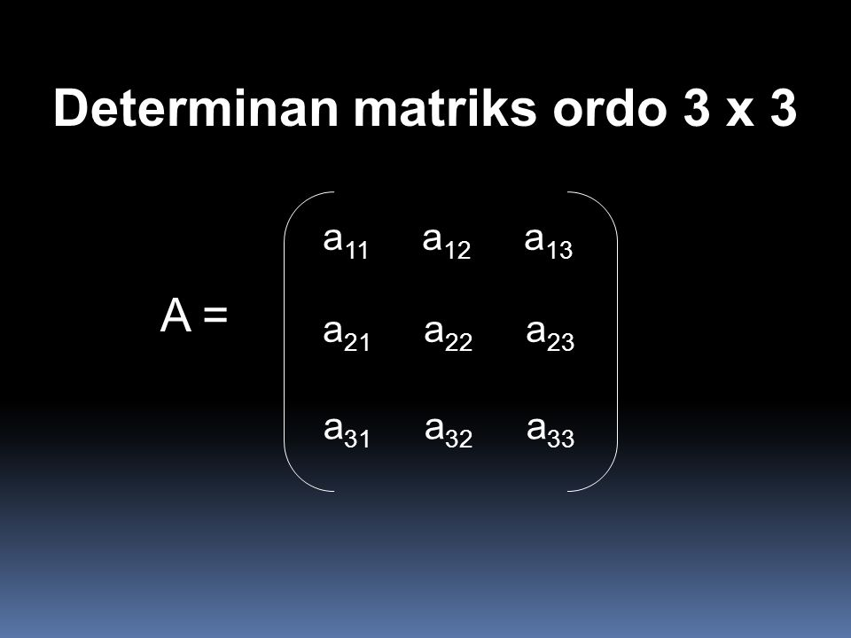 Determinan matriks ordo 3 x 3