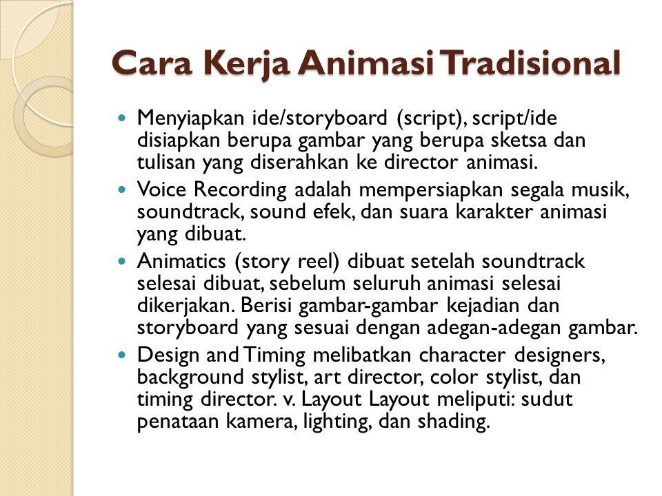 Cara Kerja Animasi Tradisional