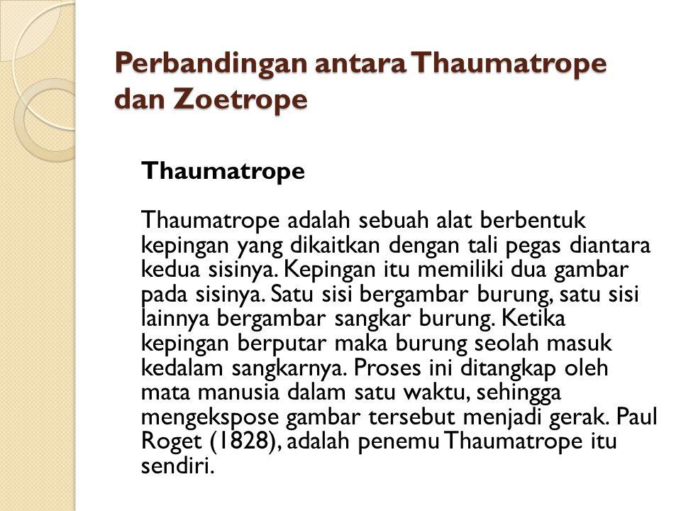 Perbandingan antara Thaumatrope dan Zoetrope