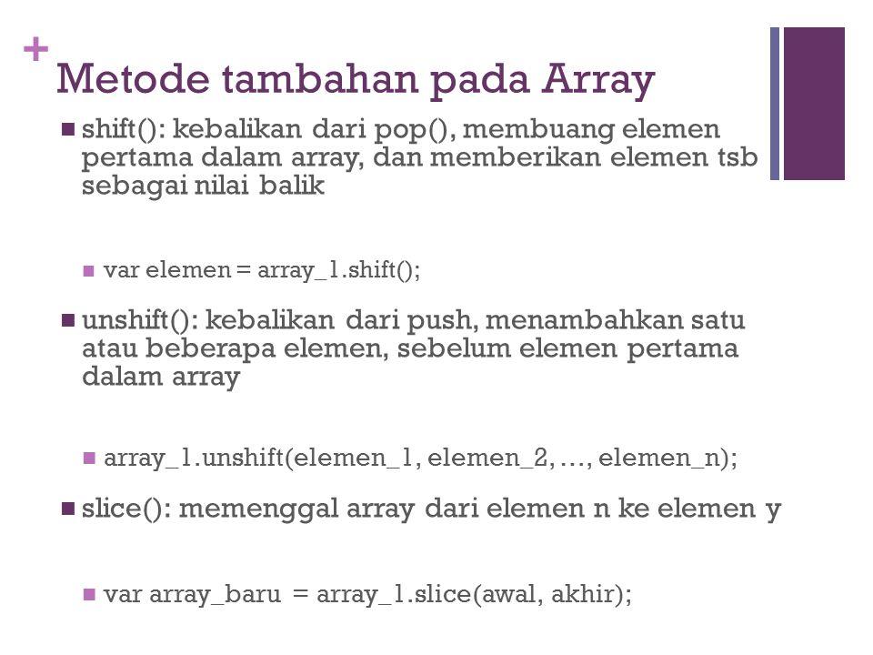 Metode tambahan pada Array