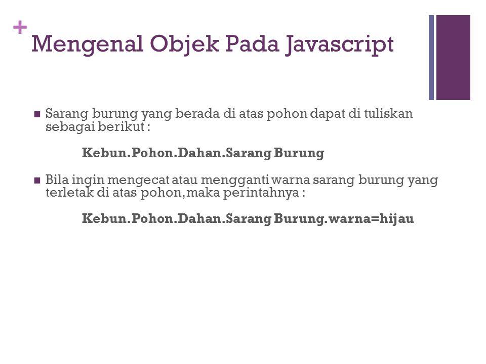 Mengenal Objek Pada Javascript