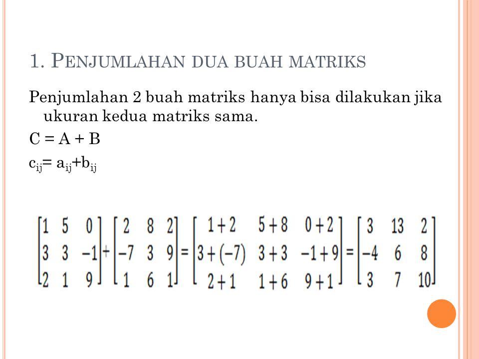1. Penjumlahan dua buah matriks
