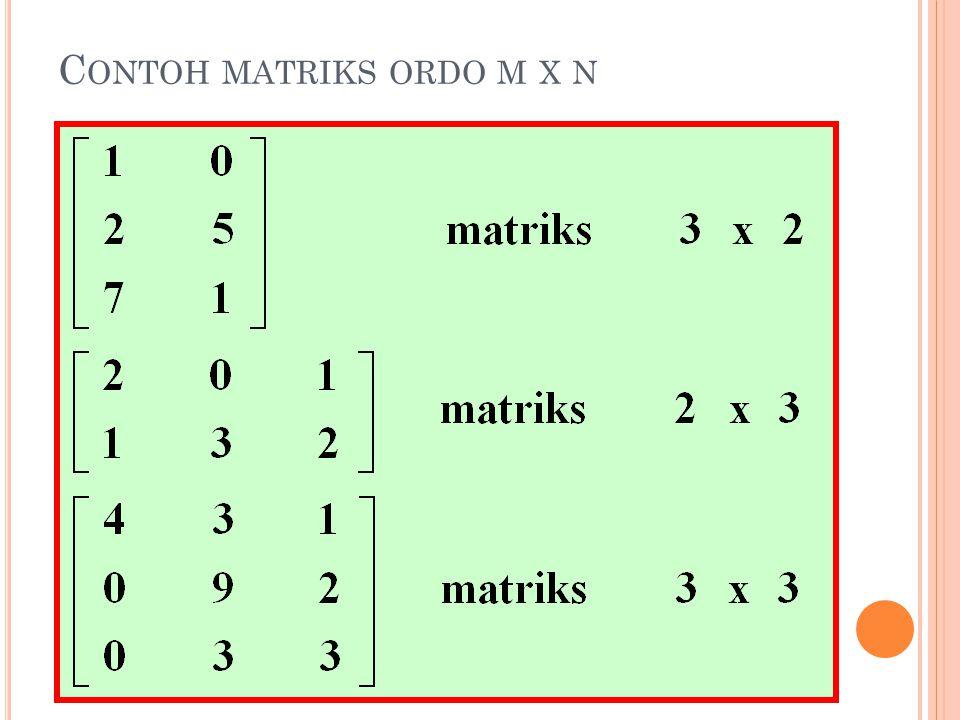 Contoh matriks ordo m x n