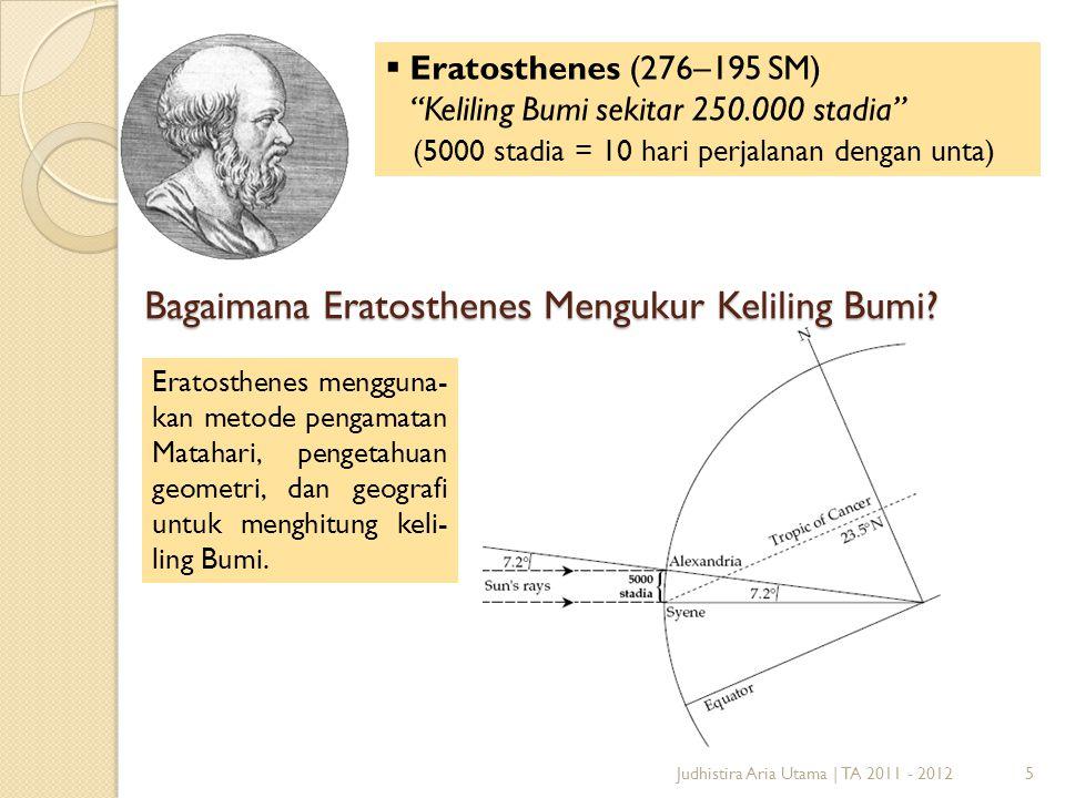 Bagaimana Eratosthenes Mengukur Keliling Bumi