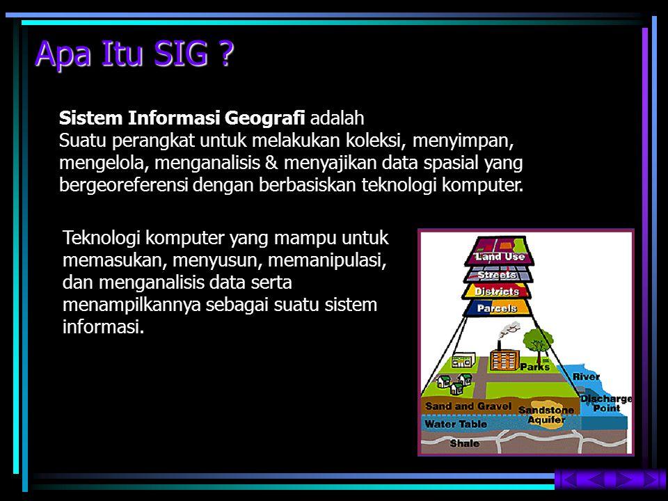 Apa Itu SIG Sistem Informasi Geografi adalah
