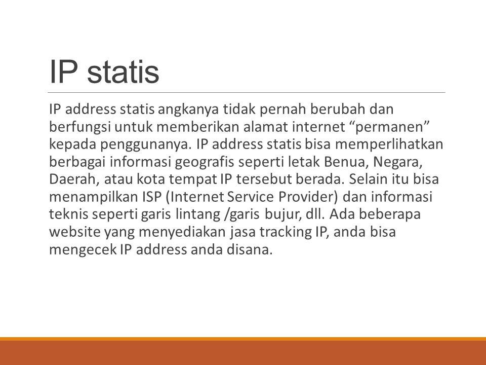 IP statis