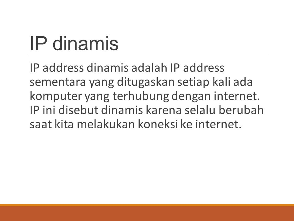 IP dinamis