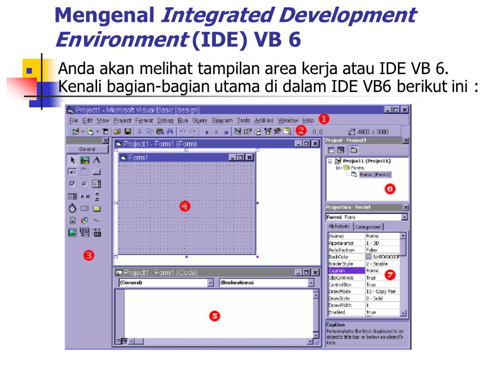 Mengenal Integrated Development Environment (IDE) VB 6