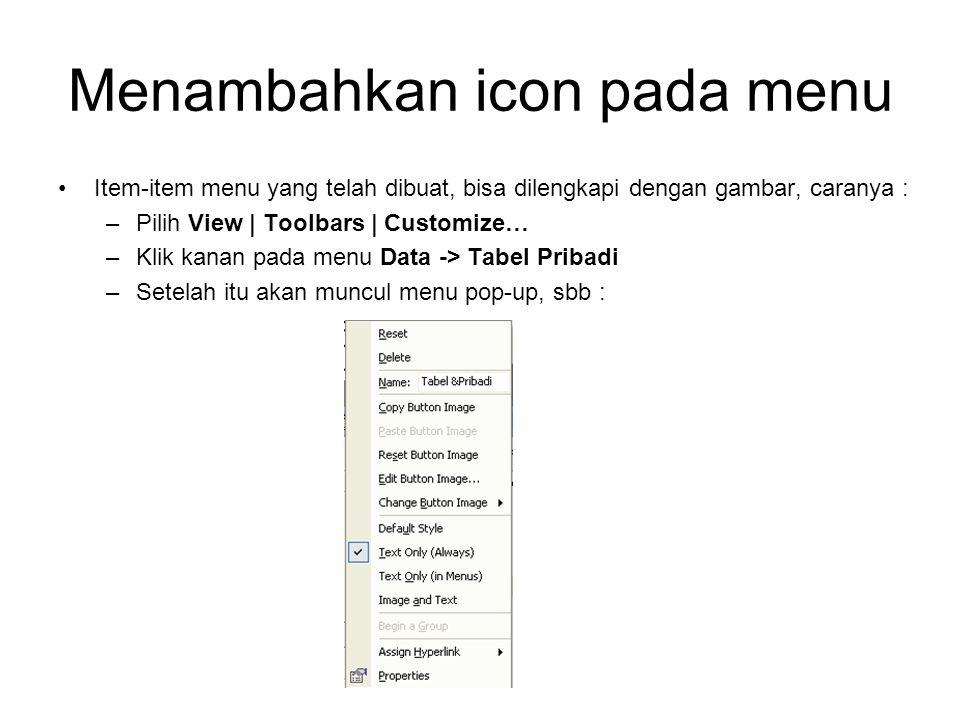 Menambahkan icon pada menu