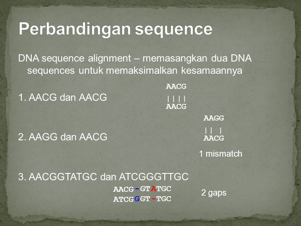 Perbandingan sequence
