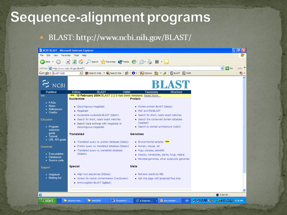 Sequence-alignment programs