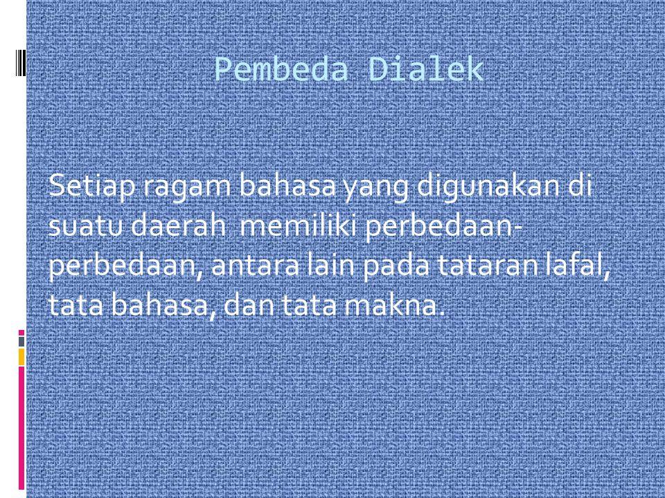 Pembeda Dialek