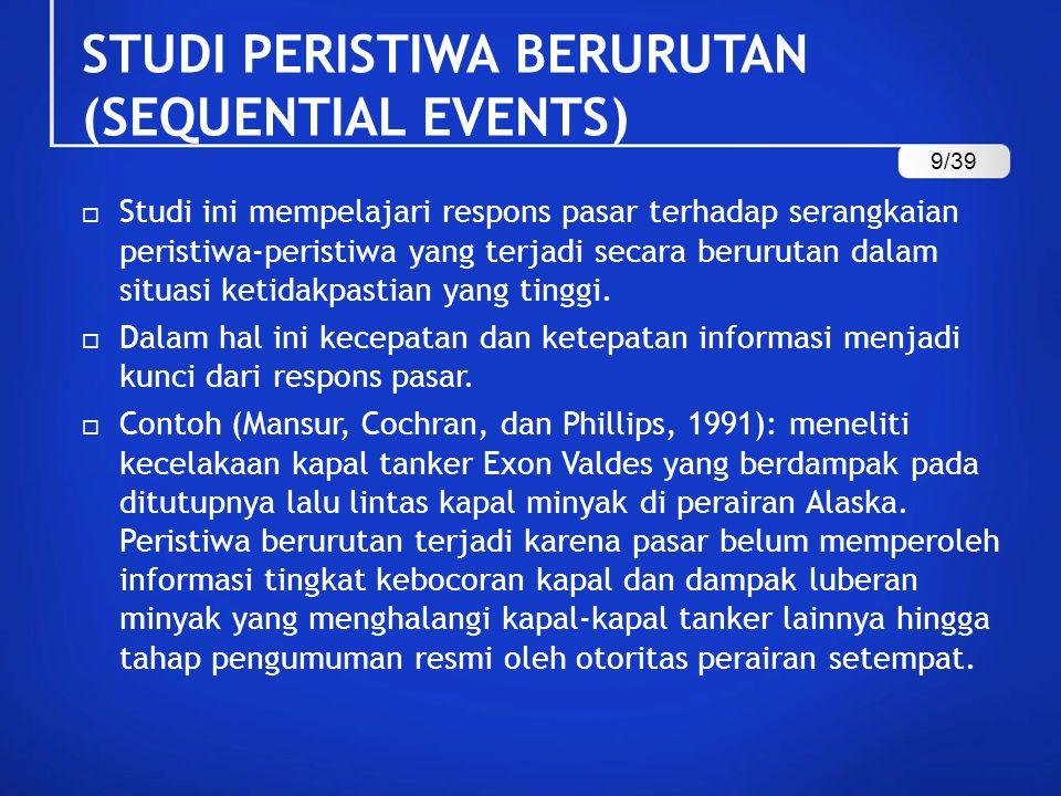 STUDI PERISTIWA BERURUTAN (SEQUENTIAL EVENTS)