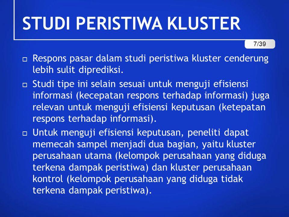 STUDI PERISTIWA KLUSTER