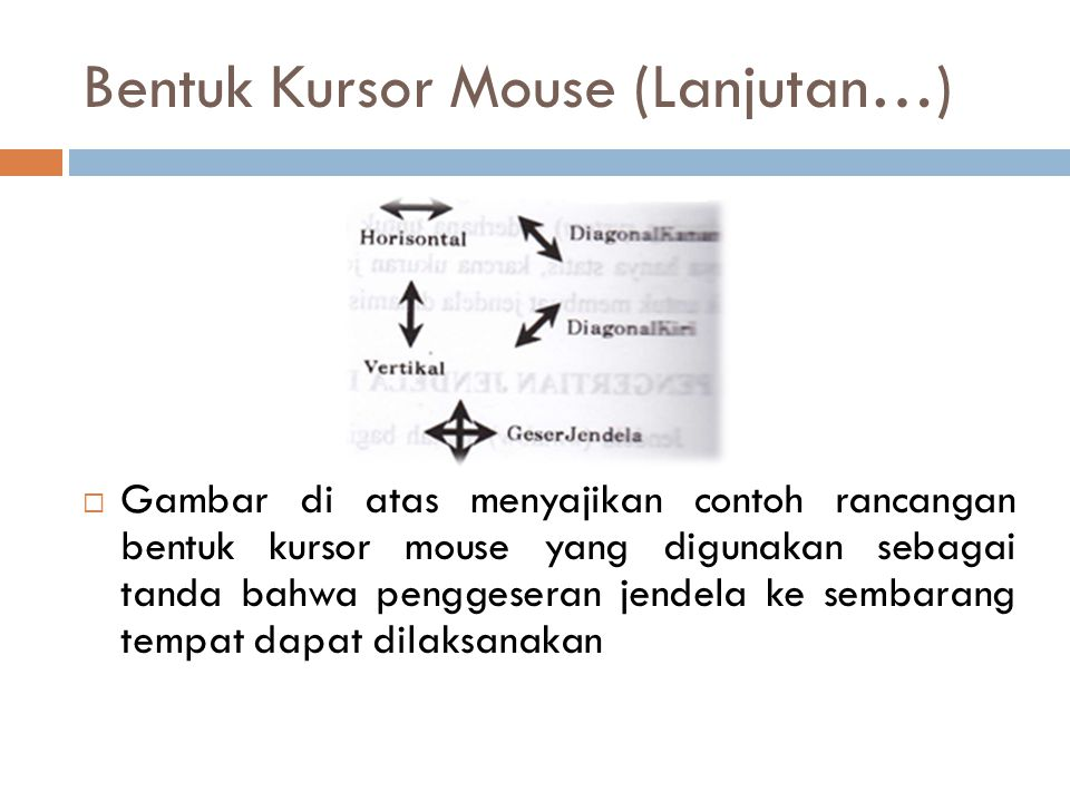 Bentuk Kursor Mouse (Lanjutan…)