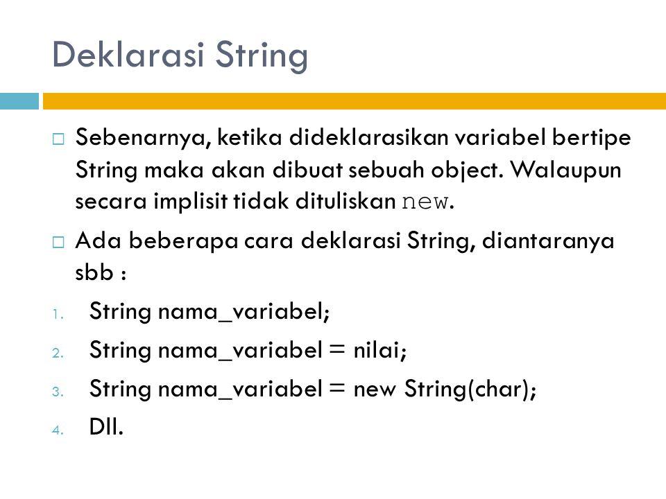 Deklarasi String