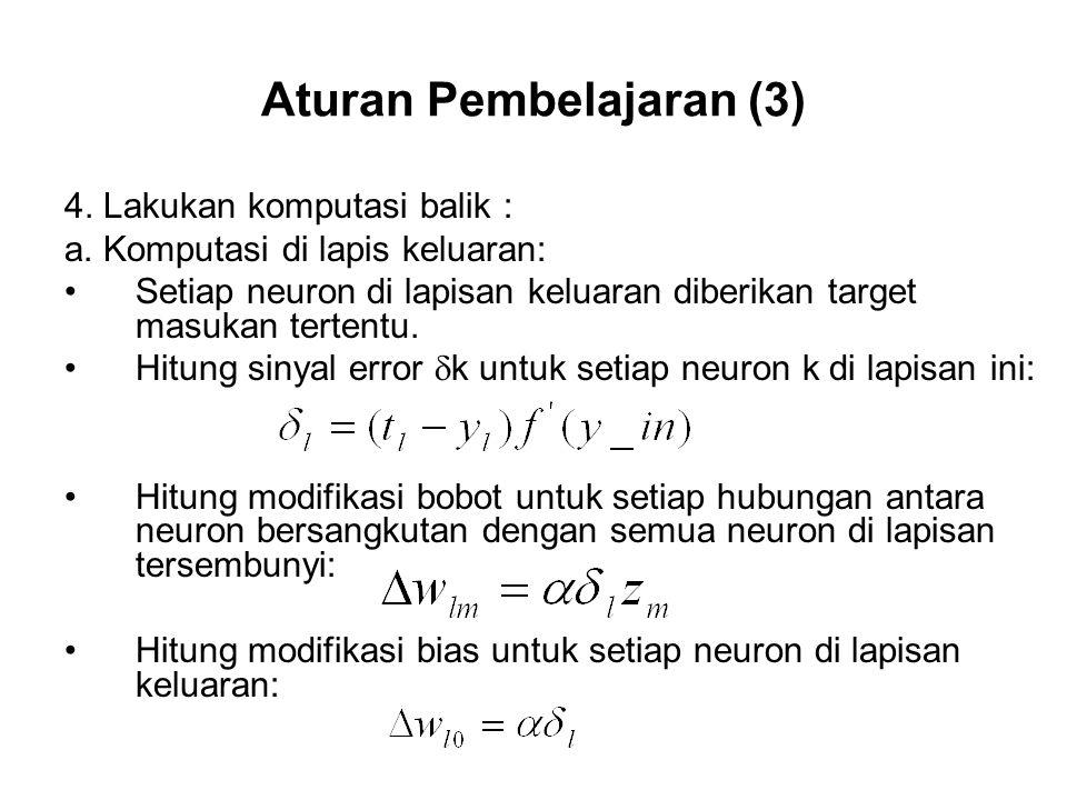 Aturan Pembelajaran (3)