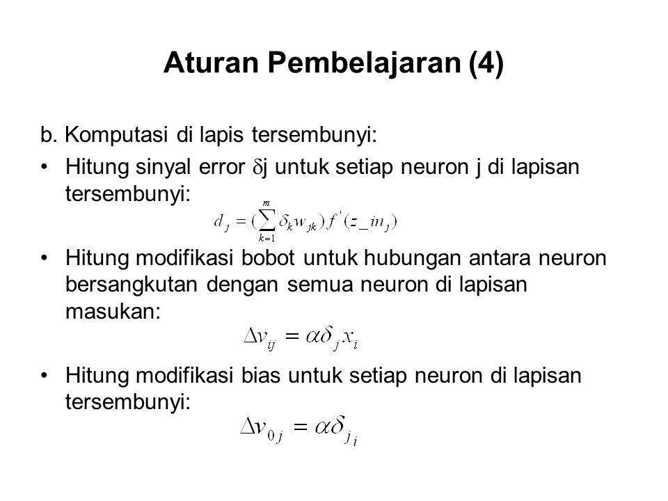 Aturan Pembelajaran (4)