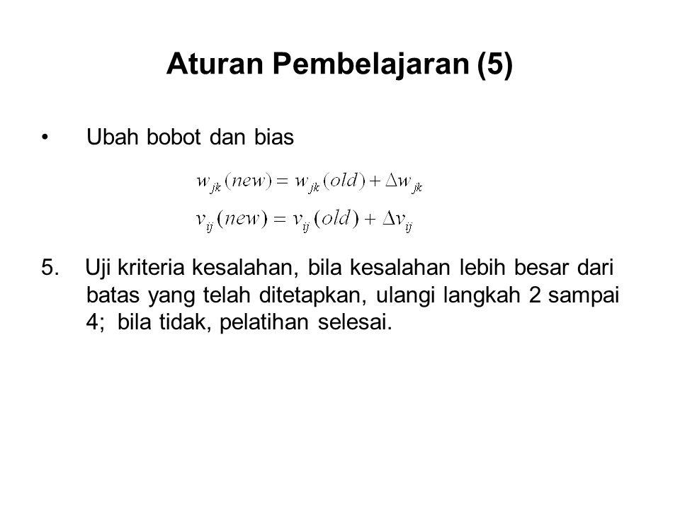 Aturan Pembelajaran (5)