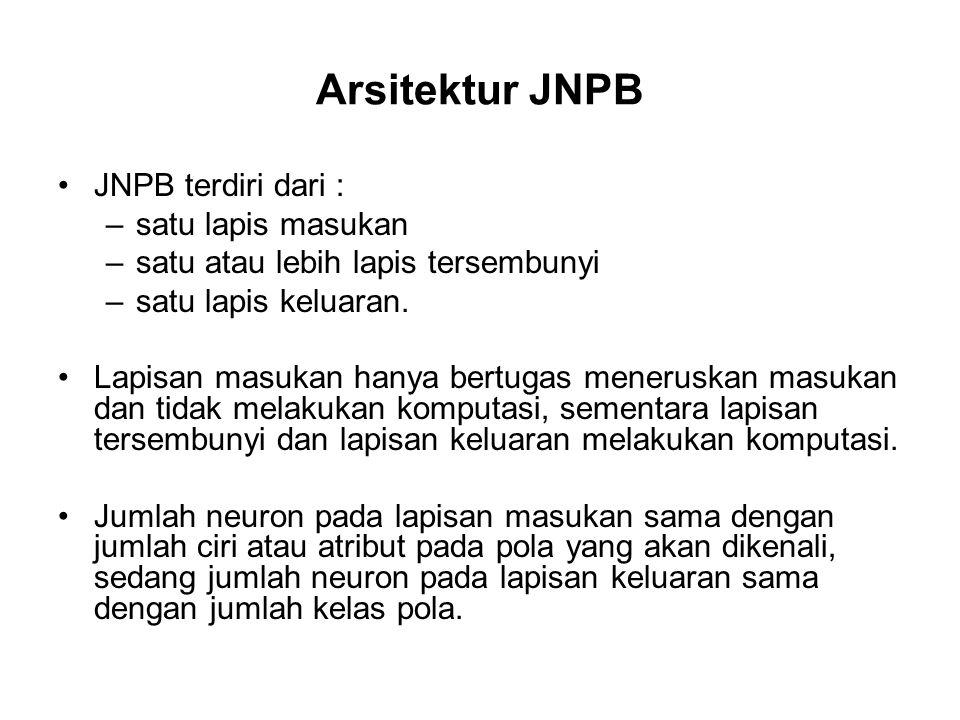 Arsitektur JNPB JNPB terdiri dari : satu lapis masukan