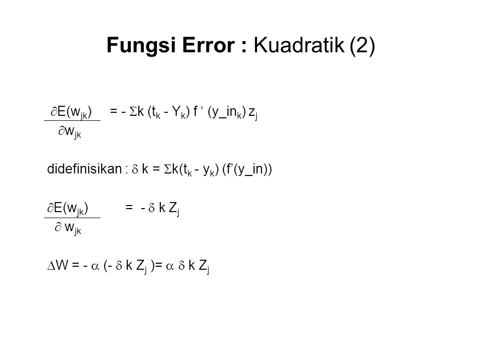 Fungsi Error : Kuadratik (2)