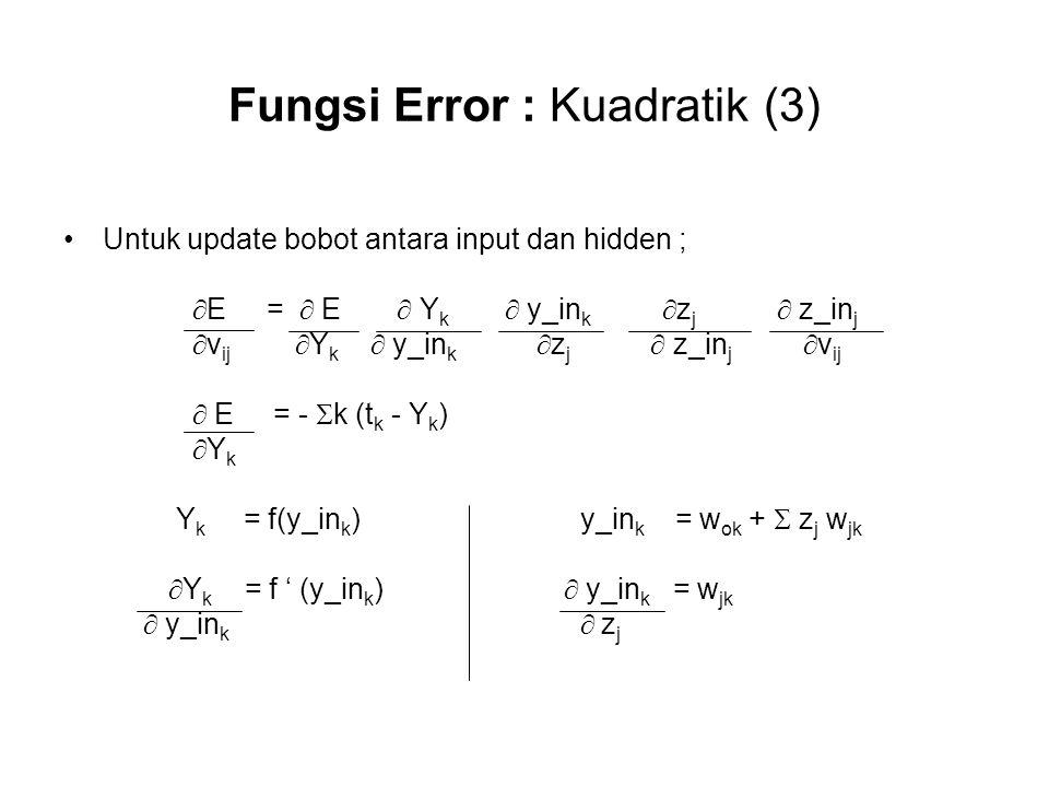 Fungsi Error : Kuadratik (3)