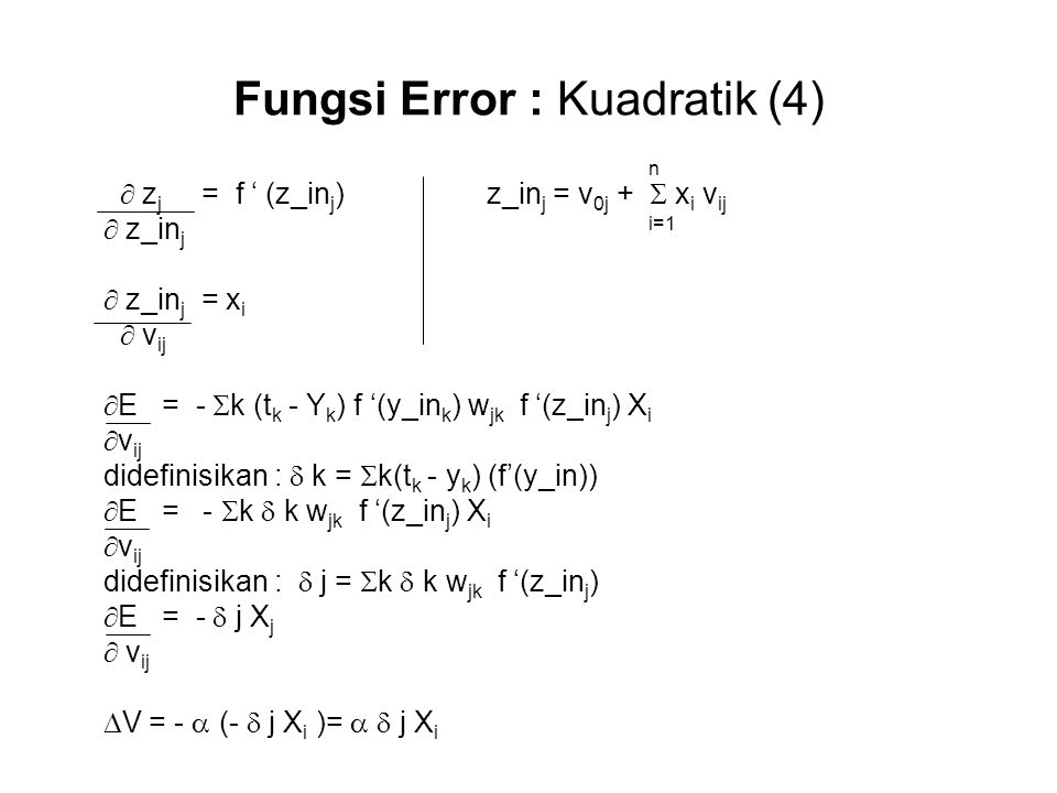 Fungsi Error : Kuadratik (4)