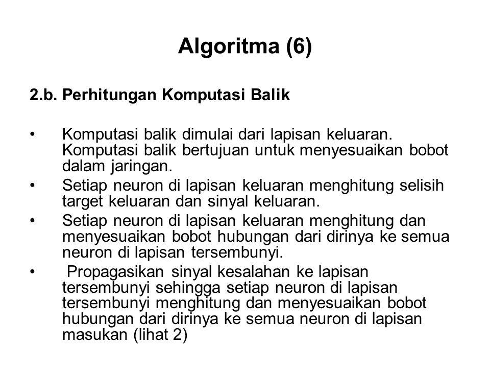Algoritma (6) 2.b. Perhitungan Komputasi Balik